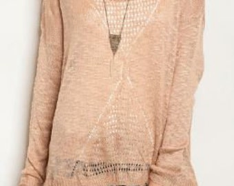 Light Weight Slub Knit Top