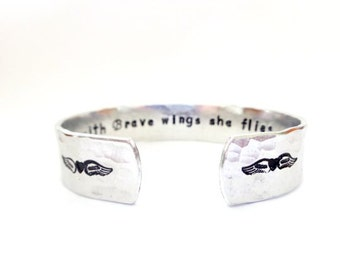 Inspiration Cuff, Inspiration Bracelet, Hand Stamped Cuff , Inspiration Jewelry, Engraved Cuff Bracelet,Handstamped Jewelry,Personal Jewelry