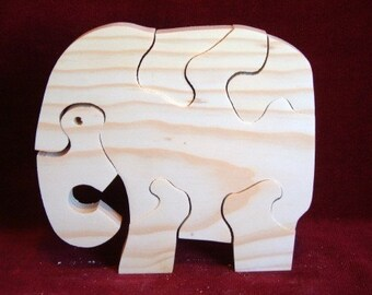 Little Elephant Puzzle, Unfinished Pine