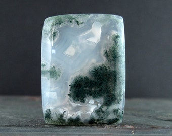 Gorgeous rectangular moss agate  cabochon, NAtural stone, Jewelry making supplies  S7520