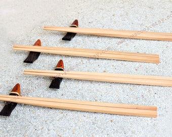 Wooden Wood Chopsticks Fish Chopstick Rest Chopstick Holder Set of 4