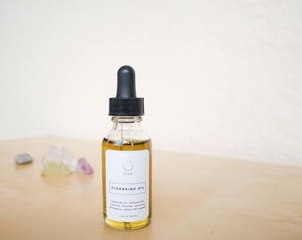 Cleansing Oil // Makeup Remover - Vegan, Organic - Facial Cleanser, Acne Cleanser, Natural Face Wash, Vegan Skincare