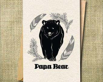 Papa Bear Card, New Dad Card, Established Card, Father's Day Card, Funny Fathers Day Card, Birthday Card for Dad, Bear Card, Seasonal Card