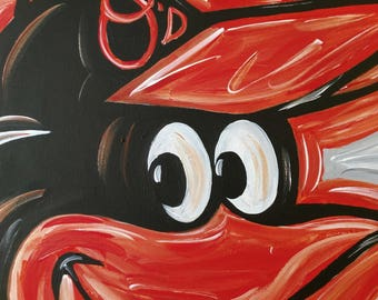 Baltimore Orioles abstract painting art O's