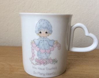 SALE!!!-Vintage Precious Moments Mug, You Have Touched So Many Hearts , Valentine Gift, Samuel Butcher