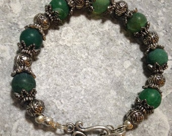 Frosted Green Agate bracelet