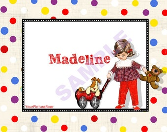 Toddler Stationery/Children/Note Cards