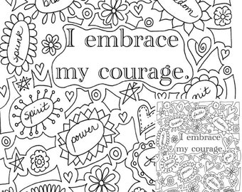 I accept myself Printable Coloring Page Instantly