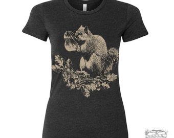 Womens Boxing SQUIRREL T Shirt -hand screen printed s m l xl xxl (+ Colors) custom