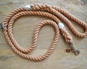 Cotton Rope Dog Leash - Orange   Dog Leash   Dog Lead   Rope Dog Leash   Hand Dyed Cotton Rope   Pet Accessory   Dog Lover Gift  