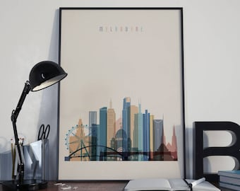 Melbourne Art Melbourne Watercolor Melbourne Multicolor Melbourne Wall Art Melbourne Wall Decor Melbourne Home Decor Melbourne Skyline Print