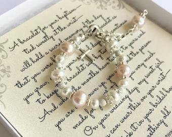 Baptism to Wedding Bracelet - Baby to Adult - Keepsake Gift - Baptism Bracelet - Christening Bracelet - Baby Shower Gift - Baby Bracelet
