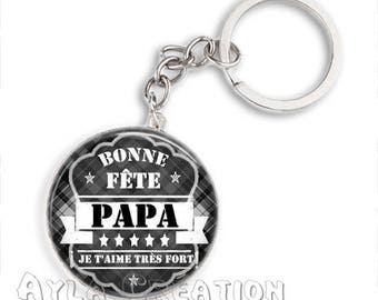 Cabochons glass 25mm #PA_CP05 dad keychain
