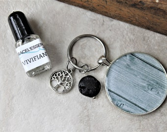 DIFFUSER KEYCHAIN, charm gift set, diffuser keychain, key ring, aromatherapy, unique gift, one of a kind gift, teacher gift, for him