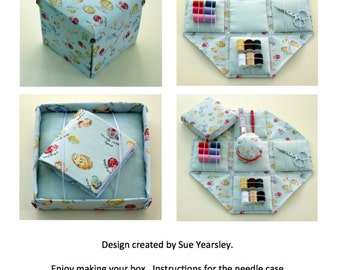 Etui folding sewing box PDF instructions