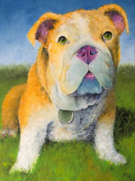 English Bulldog on a Sunny Day Painting