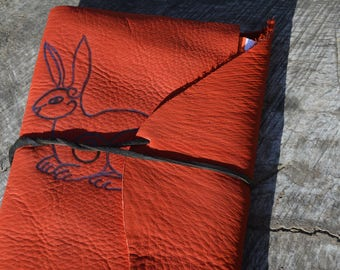 Norse Rabbit  Handmade Leather Journal with Free Personalization