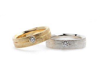 14k Gold wedding bands Wedding ring set Unique wedding