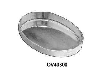 2pcs x Oval 40x30mm Bezel Cups Sterling Silver 925 (OV40300)