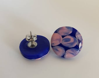 Clay Earrings - Large - Round