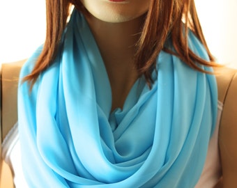 Soft Blue infinity scarves - Blue scarf - Blue wraps - Scarves - Scarf - infinity scarves - Summer Scarf - Blue Scarf - Blue Scarves - Scarf