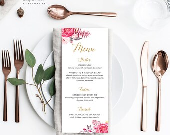 Passion - Menu Cards (Style 13616)