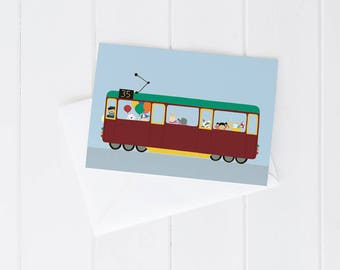 Greeting card Melbourne tram