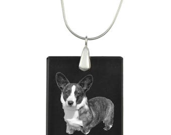 Cardigan Welsh Corgi,  Dog Crystal Pendant, SIlver Necklace 925, High Quality, Exceptional Gift, Collection!