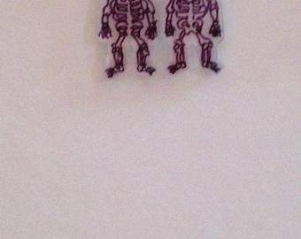 Handmade skeleton earrings