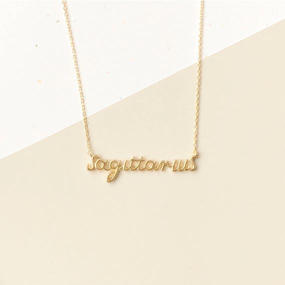 gold script hollywood ip necklace sterling name chain over personalized or silver