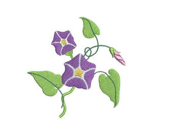 Morning Glories - Machine Embroidery Design