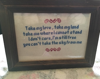 Firefly cross stitch