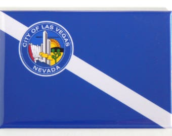 Flag of Las Vegas Nevada Fridge Magnet