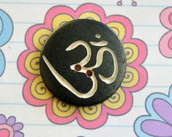 Buddhist Om Symbol Button Package of 6