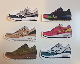 6 Nike Air Max 1 Sneaker Stickers