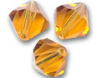 1 lot 10 bicones 6 mm topaz Swarovski Crystal bead