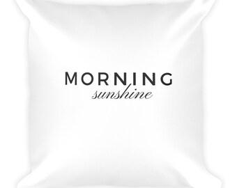 Morning sunshine white cushion