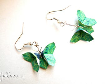 Origami butterflies earrings