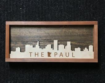 """Wooden Saint Paul Skyline """"THE PAUL"""""""