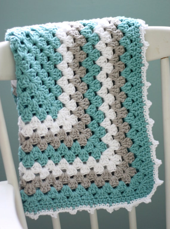 Daisy Cottage Designs Granny Square Blanket Crochet Pattern Granny