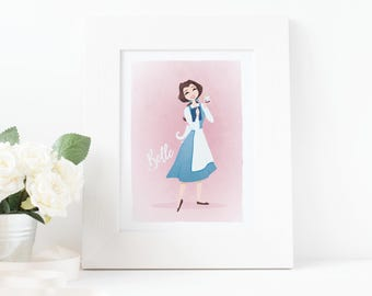 Belle • Beauty and the Beast fanart print (digital)