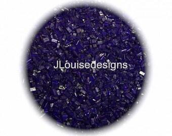 Violet Purple Sugar Crystals, Edible Sprinkles, Cake,Cakepops Confetti Cake Pop Cookie Decorations 2 oz.