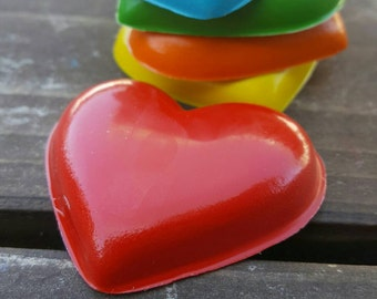 Heart Crayons set of 5 - Valentines Day Crayons - Valentines Day Favors - Heart Party Favors - Heart Valentines - Valentines Crayons - Heart