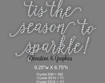 Tis the season to Sparkle Rhinestone Pattern Instant Download SVG EPS DXF Cutting file