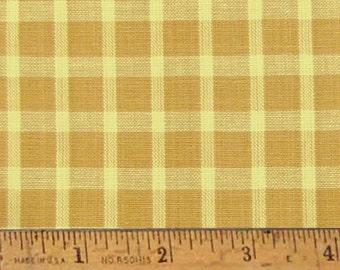 """Honey Mustard Homespun Cotton Fabric (Full Yard 36"""" x 44"""")"""