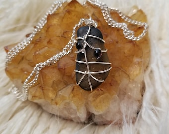 Wired wrapped Stone Pendant
