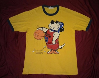 Very rare vintage 90s Wacky Races - Muttley Hanna Barbera ringer shirt