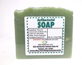 Antibacterial  Eucalyptus Soap - Handmade Soap - Cold Process Soap - 100% Natural Soap