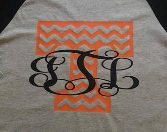Tennessee T with initials on Baseball T.