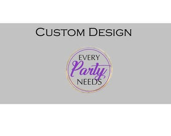 Custom Design Candy Wrapper -- Digital File